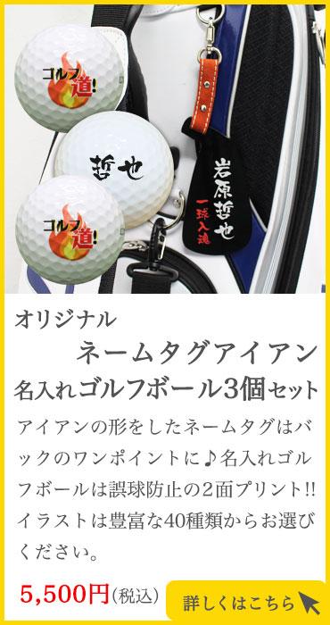 ネームタグアイアン&ゴルフボール3個