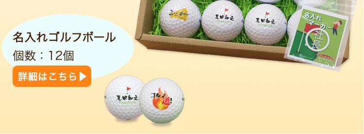 ゴルフボール名入れ12個 詳細へ