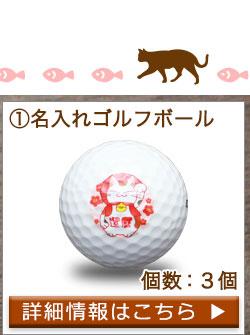 ゴルフボール名入れ3個 詳細へ