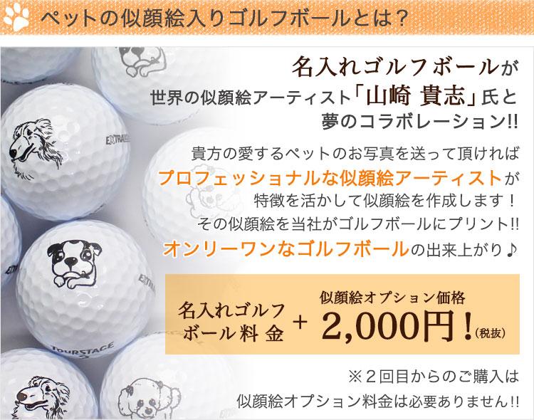 似顔絵入りゴルフボールとは