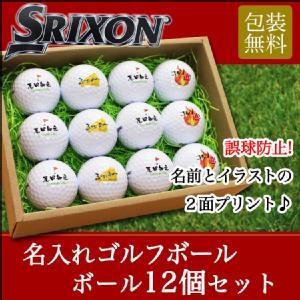 名入れゴルフボール12個セット スリクソン DISTANCE